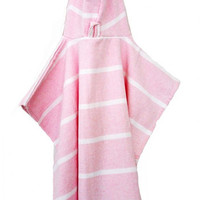 The Girl and The Water - Child's Luxe Hooded Poncho - Pink/Gray