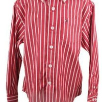 Tommy Hilfiger Toddler Boys/Boys Red Striped Long Sleeved Oxford Shirt
