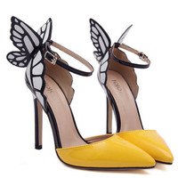 The Vampire Diaries Womens Sweet Butterfly Stiletto Pointed Toe Party High Heels