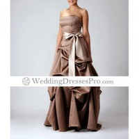 2012 Style A-line Strapless Floor-length Sleeveless Satin Prom Dress TPDWD090 [TPDWD090] - $117.99 : wedding fashion, wedding dress, bridal dresses, wedding shoes