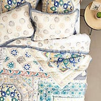 Ponsonby Quilt by Anthropologie Grey Motif