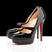 Christian Louboutin - relika patent leather, black, platform shoes, pumps, mary janes, womens shoes