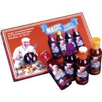 Chef Paul Prudhomme's Magic Seasoning Blends ~ Sauce & Marinade Giftpack, Qty. 4- 12 fl. oz. Bottles