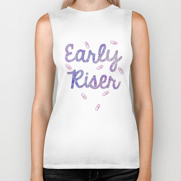Early Riser Biker Tank by BAMBI ONASSIS