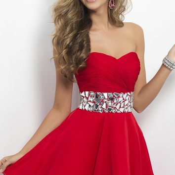 Strapless Homecoming Dress by Blush 9683