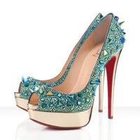 Christian Louboutin Very Mix 150mm Pumps Green - $169