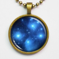 Interstellar Necklace - Star Cluster Pleiades, Seven Sisters, Constellation,M45 - Galaxy Series | Luulla