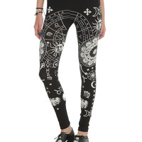Astrological Black Leggings