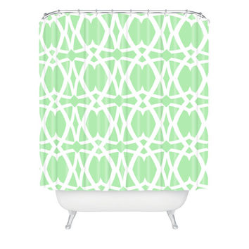 Lisa Argyropoulos Mezzo Mint Shower Curtain