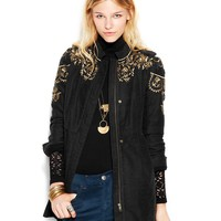 Free People Embellished Sargeant Coat