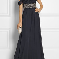 Notte by Marchesa - Embellished silk-chiffon gown