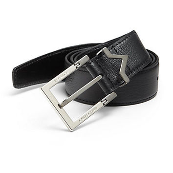 Versace: Leather Logo Belt