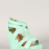 Strappy Open Toe Wedge