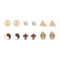 Peaceful Spirits Stud Earrings Set of 6