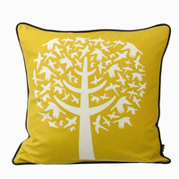 18 x 18 Yellow/Oyster/Cream DNA Pillow