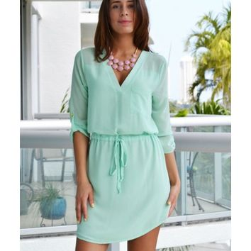 Lysa Mint Shift Dress