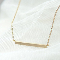simple style gold titanium steel pendant necklace by braceletcool