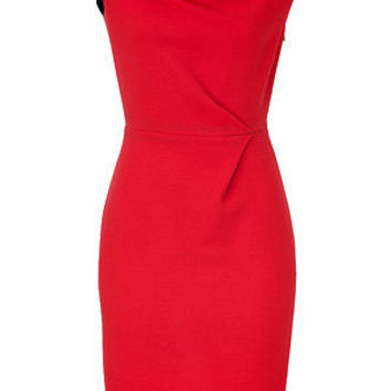 STYLEBOP.com | Red and Navy Colorblock Wool Crepe Dress by ROKSANDA ILINCIC | the latest trends from the capitals of the world