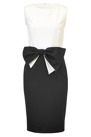 STYLEBOP.com | Pearl/Black Colorblock Techno Couture Dress by VALENTINO | the latest trends from the capitals of the world