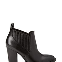 Pleated Faux Leather Booties