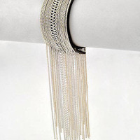 "30% off use promo code ""wanelo"" at checkout. On the Fringe Silver and Leather Snap Closure Bracelet"