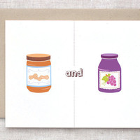 PB & J Recycled Greeting Card by HappyDappyBits