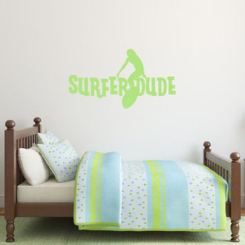 Surfer Dude Vinyl Wall Decal 22435