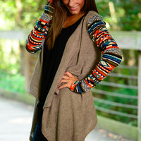 For Your Love Cardigan, Mocha