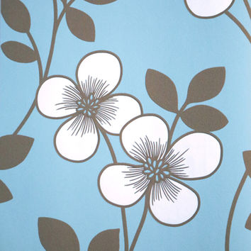 Freud Light Blue 2533-20229 Blossom Trail Wallpaper