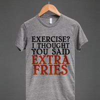 EXTRA FRIES | Athletic T-shirt | Skreened