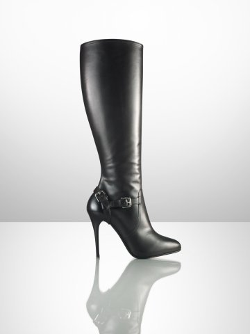 Vivera Equestrian Calf Boot - Collection Shoes   Shoes - RalphLauren.com