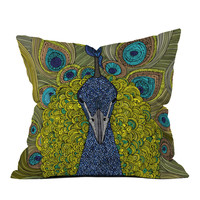 Peacock Throw Pillow | zulily