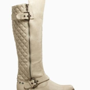 QUILTED RHINESTONE BOOTS