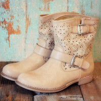 Last Stand Khaki Cutout Ankle Boot