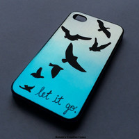 Let It Go Flying Birds iPhone 4/4s Case