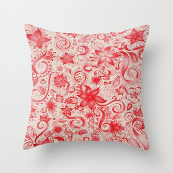 RED  Throw Pillow by DuckyB (Brandi)