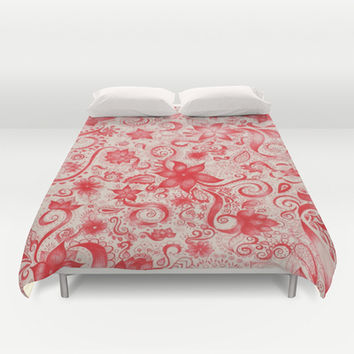 RED  Duvet Cover by DuckyB (Brandi)