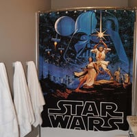 Retro Star Wars Shower Curtain