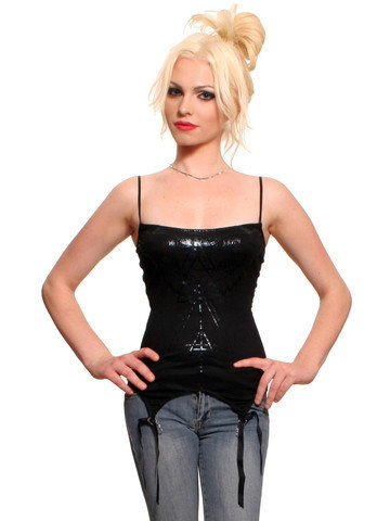 GYPSY WARRIOR - Witch House Garter Tank - Widow