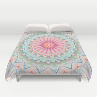 Mandala pastel no. 5 Duvet Cover by Christine baessler