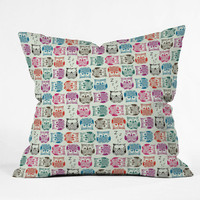 DENY Designs Home Accessories | Sharon Turner Light Sherbet Owls Throw Pillow