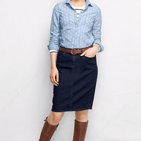 Women's 5-pocket Jean Skirt from Lands' End