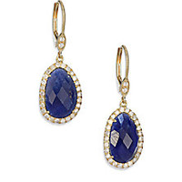 Meira T - Sapphire, Diamond & 14K Yellow Gold Drop Earrings - Saks Fifth Avenue Mobile