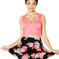 Papaya Clothing Online :: CUT-OUT LACY CROP TOP