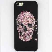 BSJ Colour Snap On Hard Case Cover Protector For Apple iPhone 5 (Sugar Skull Case)