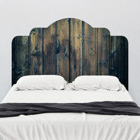 Stained Wood Adhesive Headboard Wall Decal - WallsNeedLove