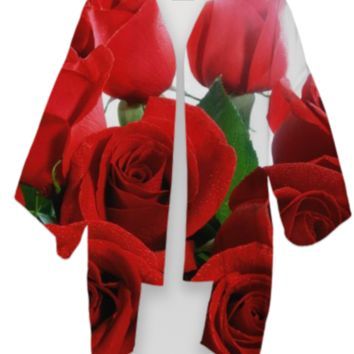 Red Roses Kimono created by ErikaKaisersot | Print All Over Me