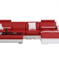 Fiji Small Leather Sectional by Scene Furniture - Opulentitems.com