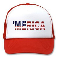 &amp;#39;Merica US Flag Hat from Zazzle.com