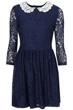 Lace Peter Pan Dress - New In This Week - New In - Topshop